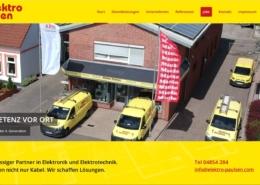 Screenshot der Homepage von elektro paulsen