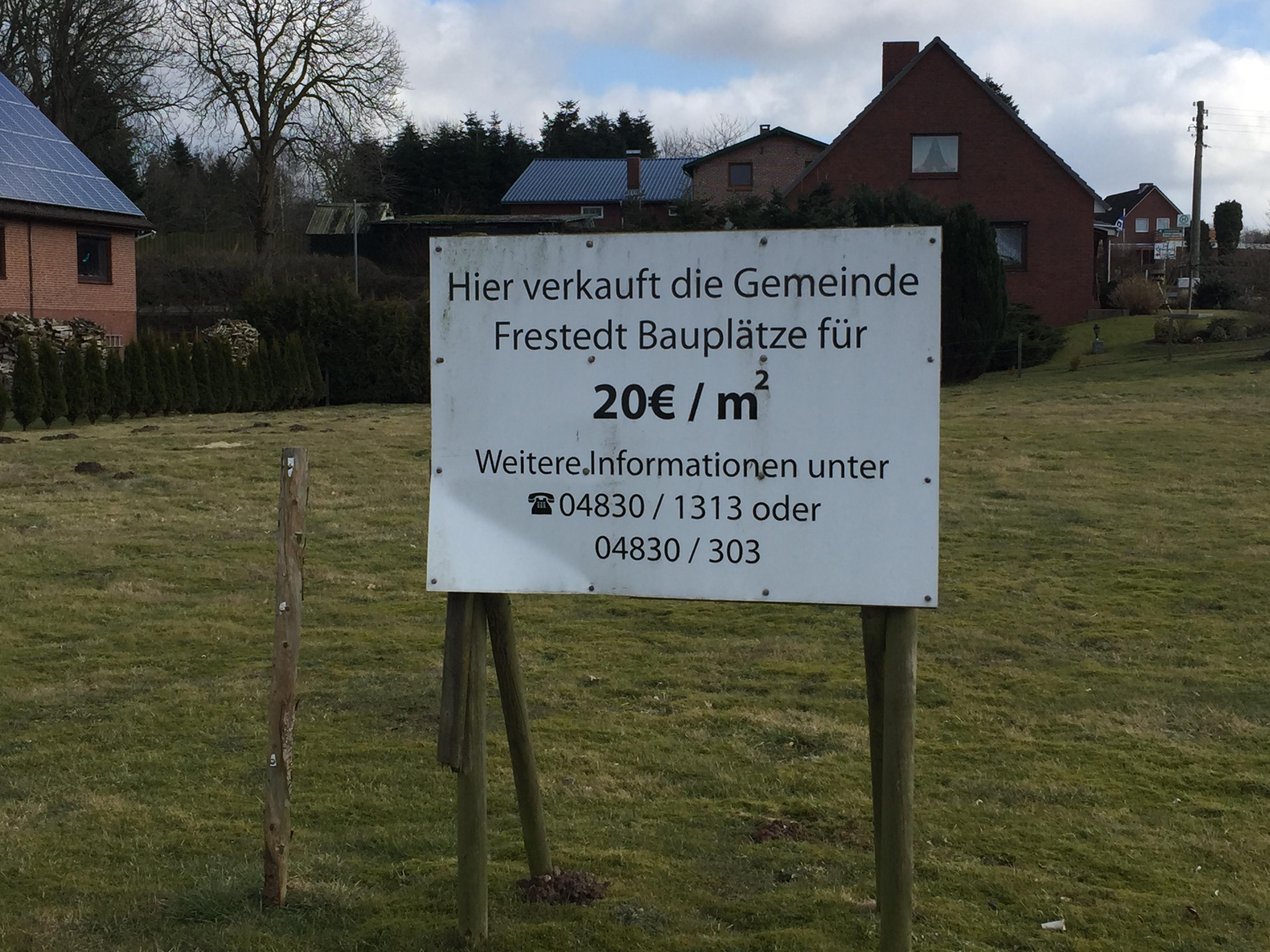 Alte Werbung Gemeinde Frestedt