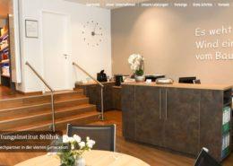 Screenshot der Homepage von Stührk Bestattungen