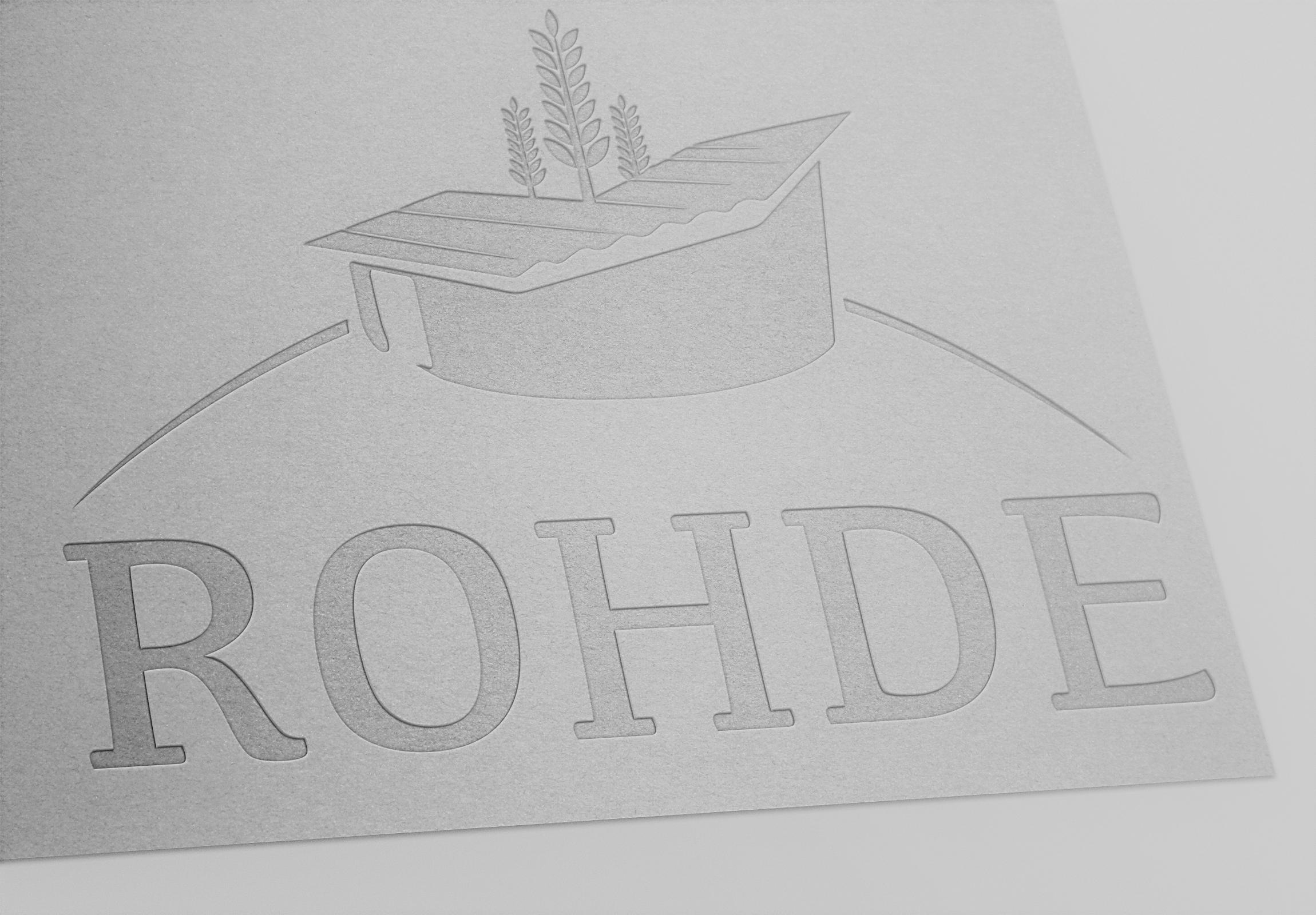 Mockup des Logos Hof Rohde