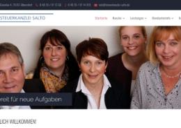 Screenshot der Homepage der Steuerberatung Salto