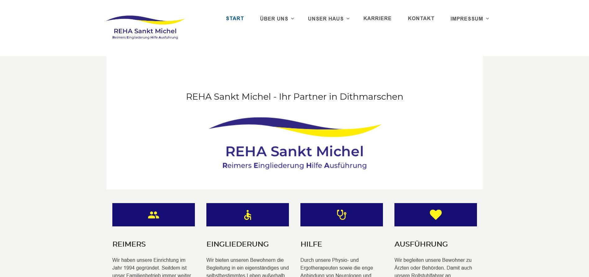Screenshot der Homepage von RSM