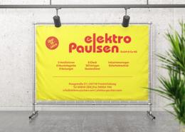 Werbebanner an Bauzaun EP