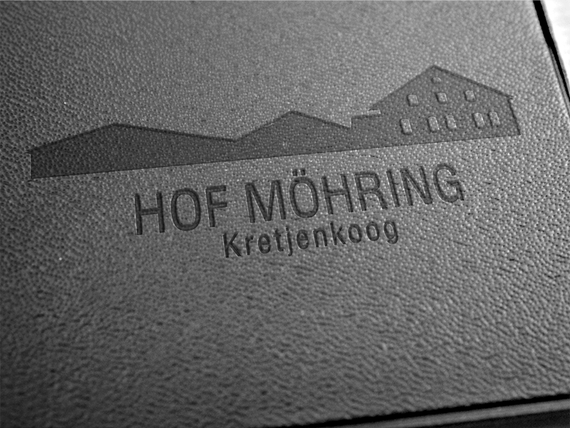 Logo Hof Möhring auf Leder