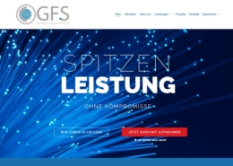 Screenshot der GFS Startseite