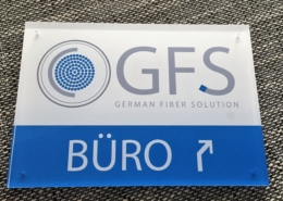 Büroschild German Fiber Solution