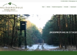 Screenshot der Homepage der Jungjägerschule