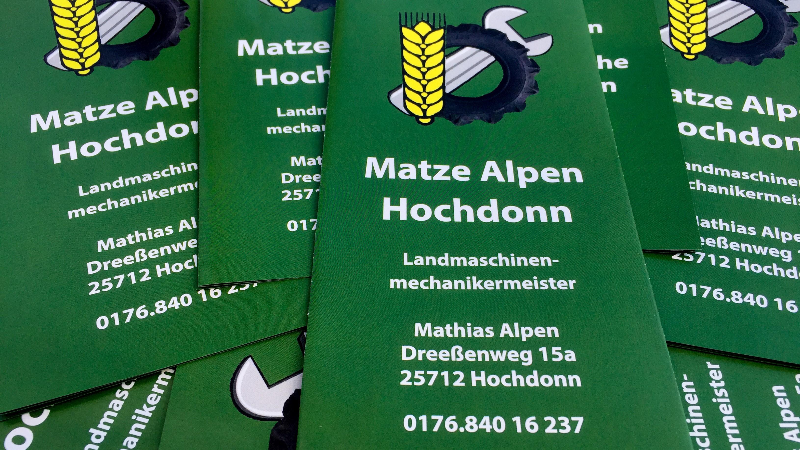 Flyer für den Kundern Matze Alpen